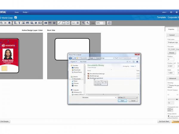 برنامج تصميم وانتاج البطاقات TruCredential